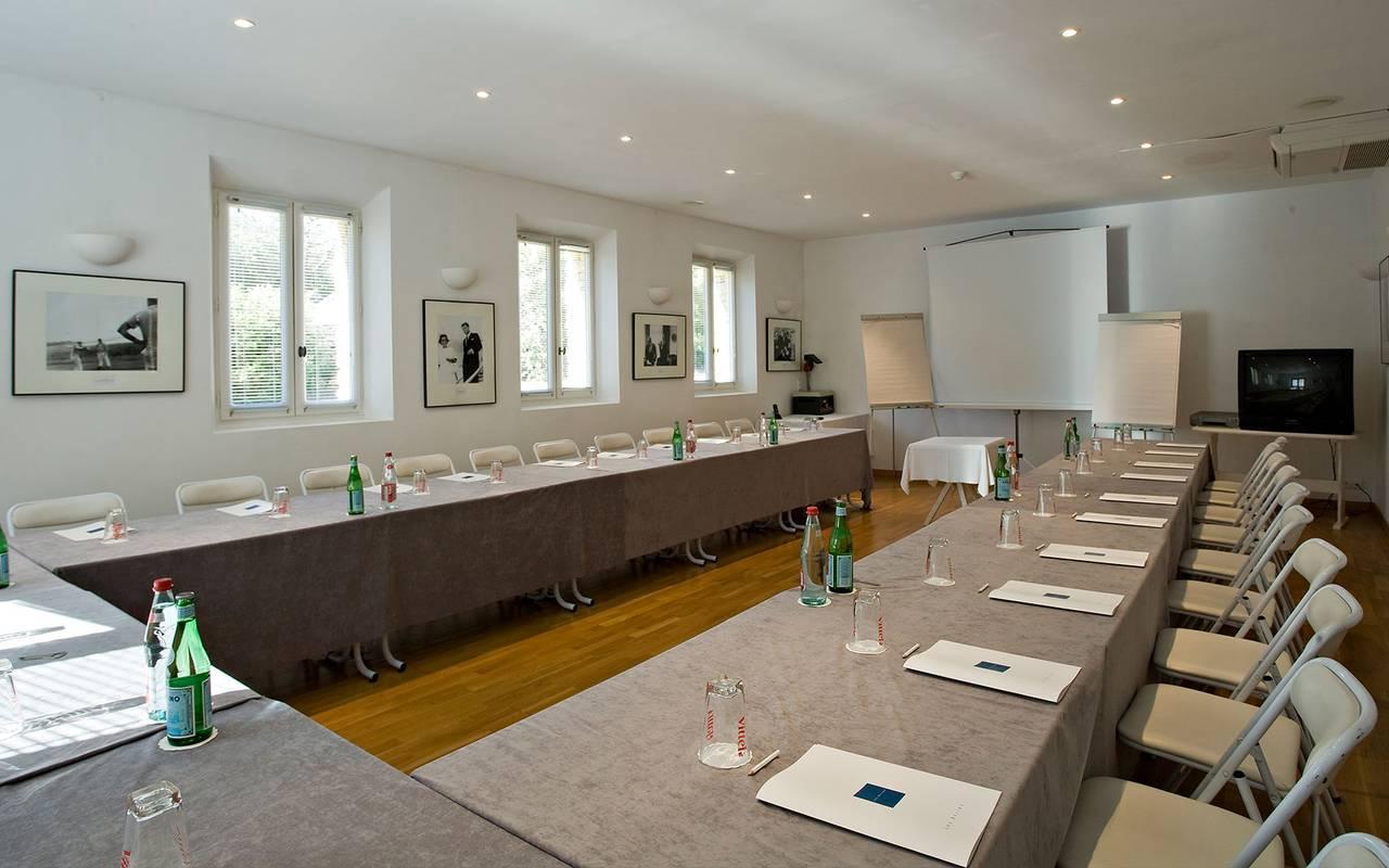 Seminar room, luxury hotel Gordes, hotel les Bories