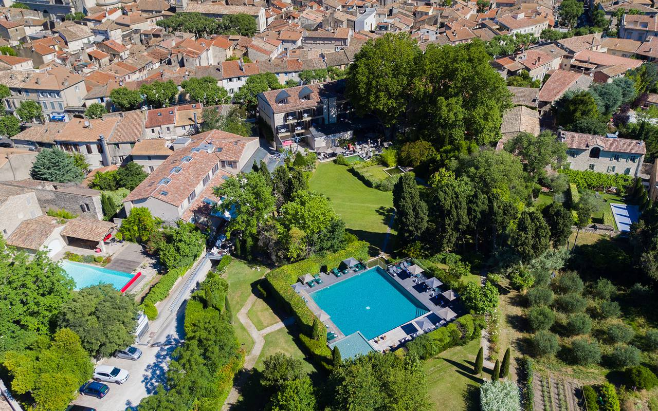 Outdoor pool, 4-star hotel Saint-Rémy-de-Provence, hotel de l'Image