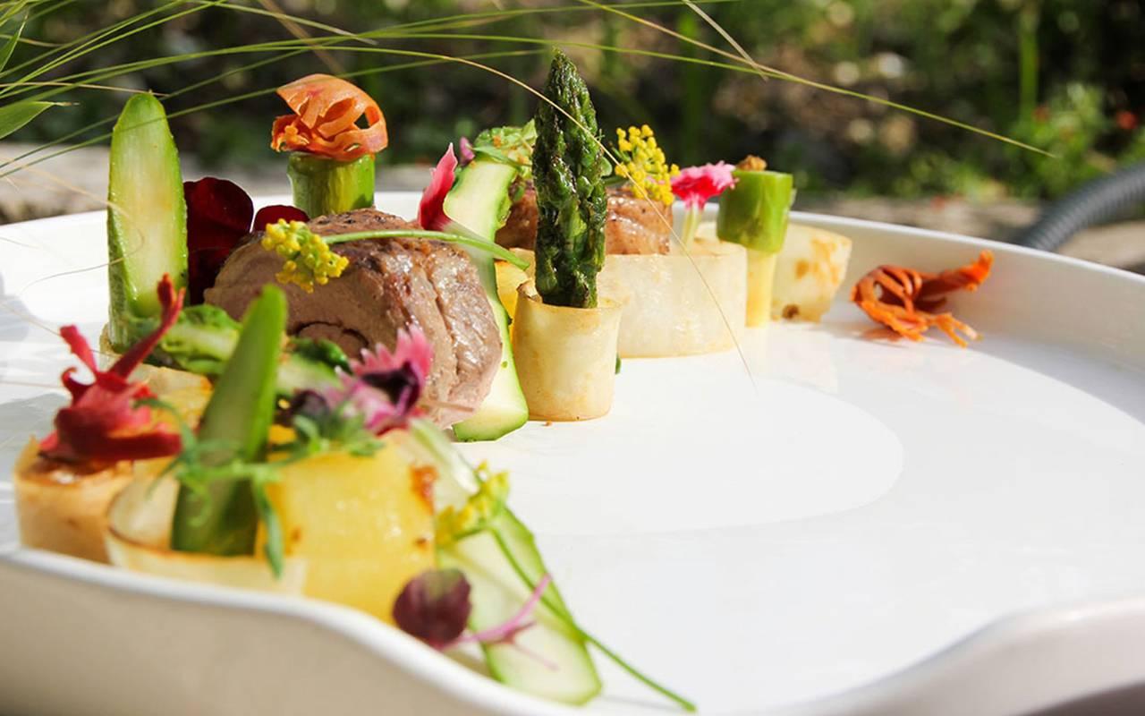 Restaurant dish, 4-star hotel Saint-Rémy-de-Provence, hotel de l'Image