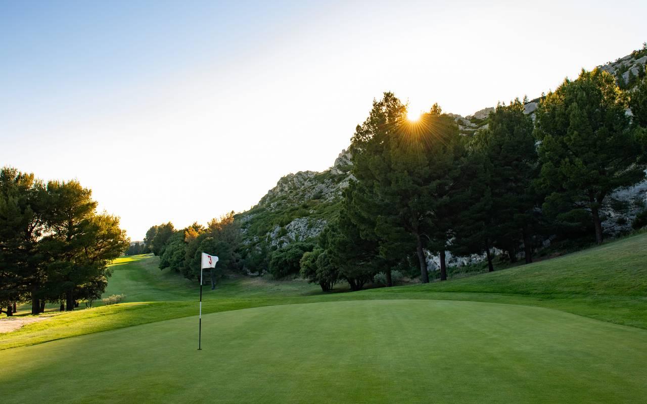 terrain de golf, hôtel de charme provence, Le Vallon de Valrugues & Spa.
